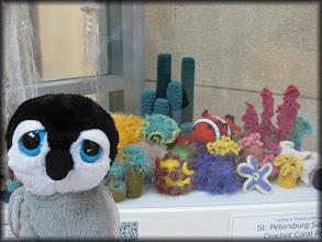 Photo: crochet coral reef display, downtown st. pete