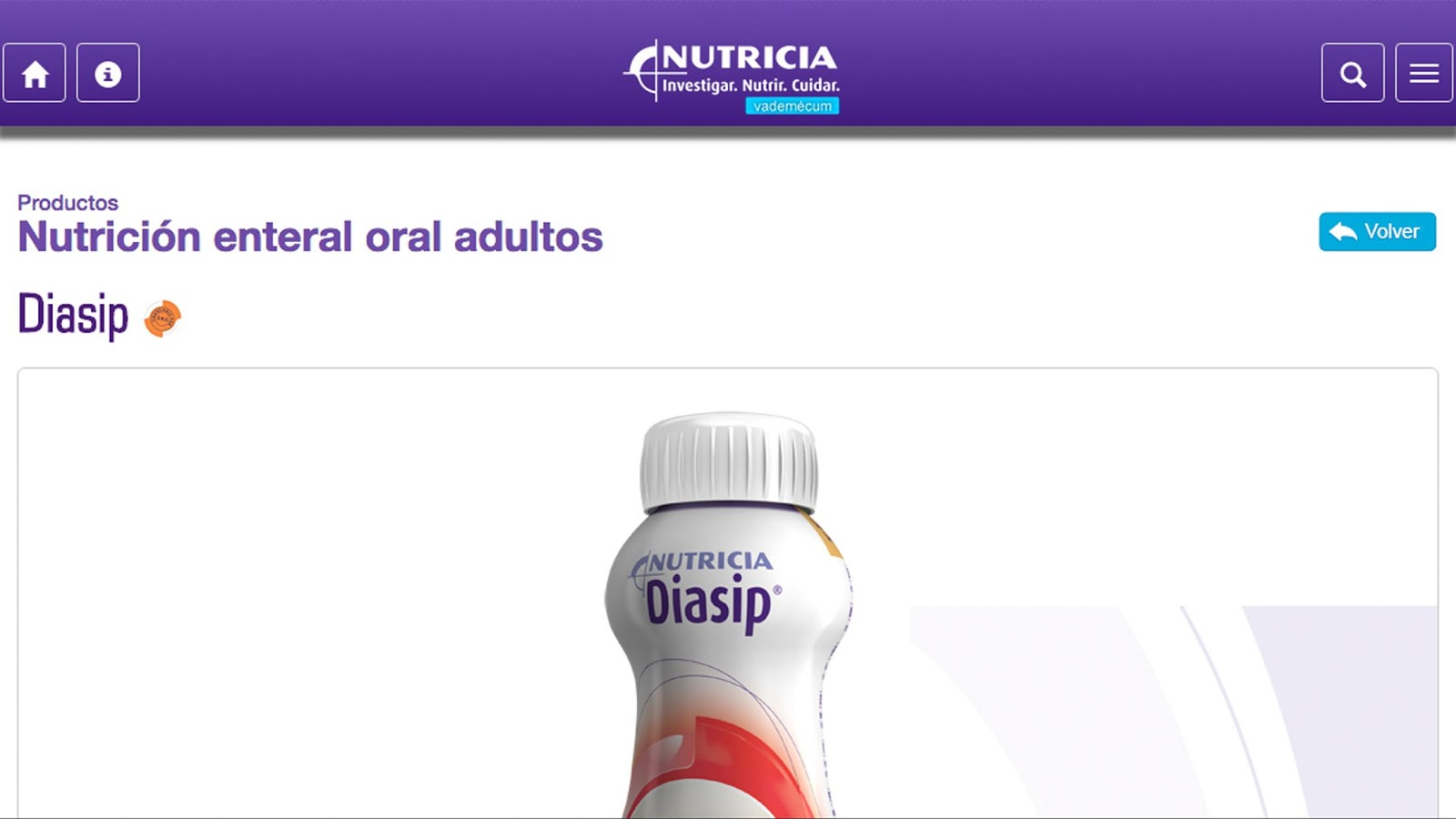 Vademécum Nutricia- screenshot