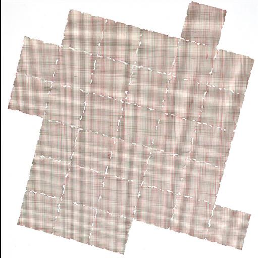Albert Roskam, '32 gekartelde vierkanten in RG in een raster binnen een groter vierkant #1'