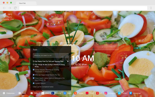 Mediterranean cuisine HD food New tab Theme