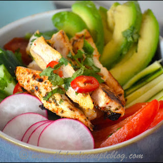Mexican Chicken Salad Bowl with a Honey-Lime Dressing