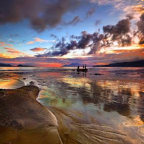PU'UMBARA LAND REFLECTION by Jasen Tan - Landscapes Sunsets & Sunrises