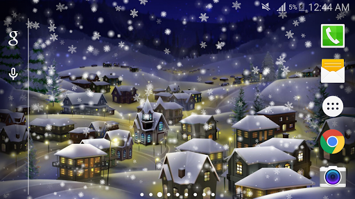 雪の夜都市壁紙PRO