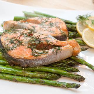 Lemon Dill Salmon and Pepper Asparagus Recipe