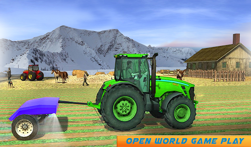 Snow Tractor Agriculture Simulator screenshot 12