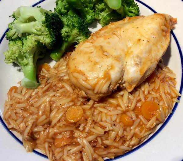 Chicken With Orzo (kotopoulo Me Manestra)