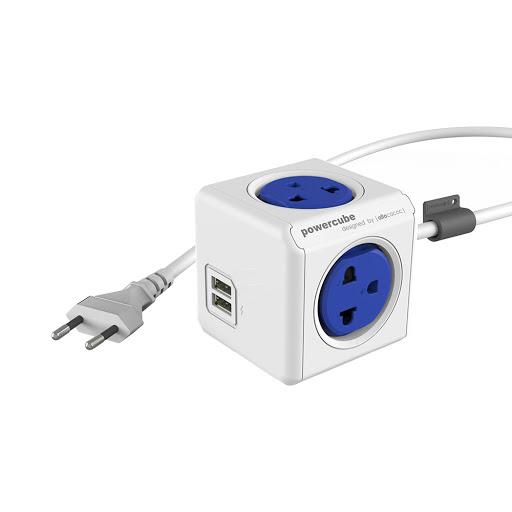 Ổ cắm điện có dây 1.5m Allocacoc (Kèm cổng sạc USB)-1