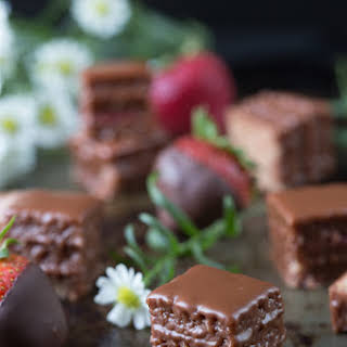 Chocolate Covered Strawberry Petit Fours.