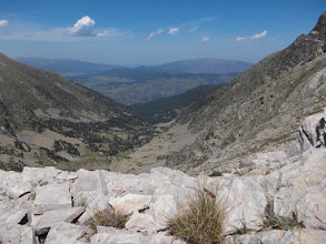 Photo: dans l'axe de la vallée