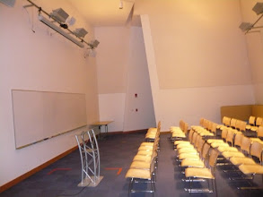 Photo: 32-G449 - Kiva room for free @ CSAIL in Stata Center (capacity 48 in seminar setup)