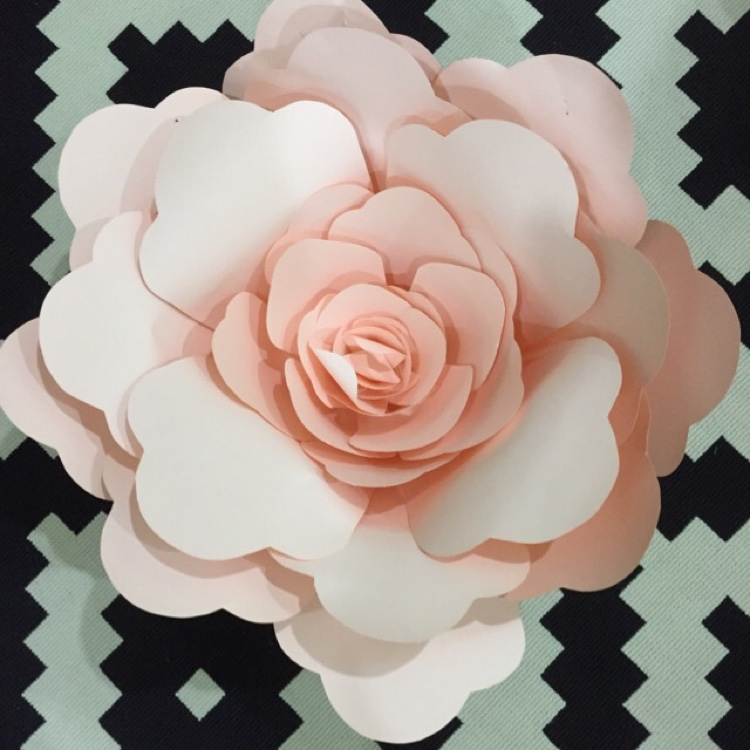 Handmade paper flower extra large by whimsicalio shoppertise handmade paper flower extra large mightylinksfo Choice Image