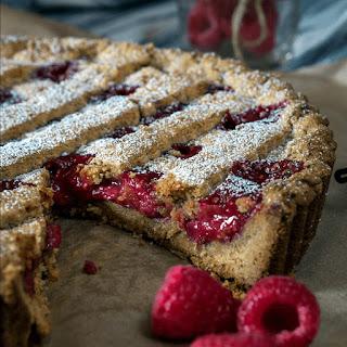 and pear tart with raspberry chia jam rainbow nourishments hazelnuts ...