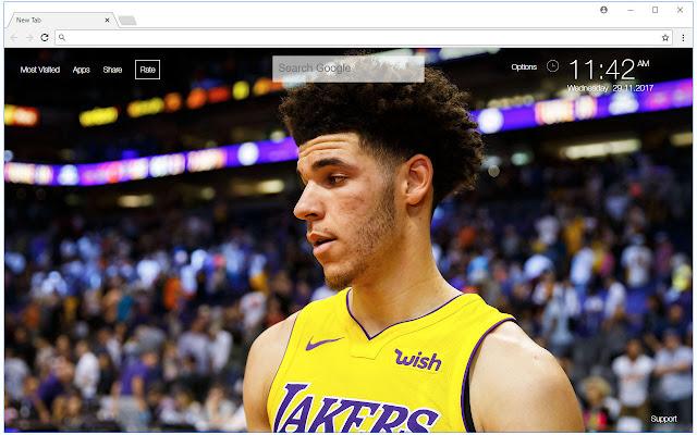 Lonzo Ball HD Wallpaper NBA New Tab Themes