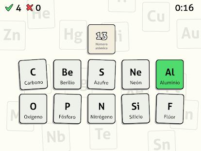 Tabla peridica quiz aplicaciones de android en google play tabla peridica quiz miniatura de captura de pantalla urtaz Gallery