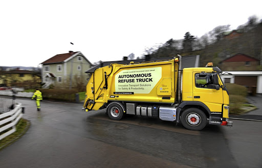 Volvo Trucks is also testing an autonomous refuse truck.   Picture: VOLVO TRUCKS