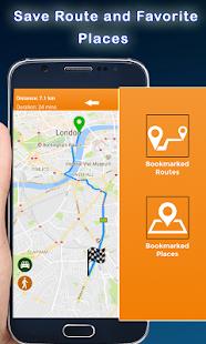 Gps mapa směr: navigace trasa průvodce - náhled