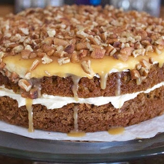 Toasted Pecan Caramel Apple Layer Cake