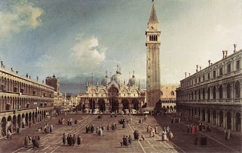 """Photo: Canaletto, """"Piazza San Marco verso la Basilica"""" (1735 circa)"""