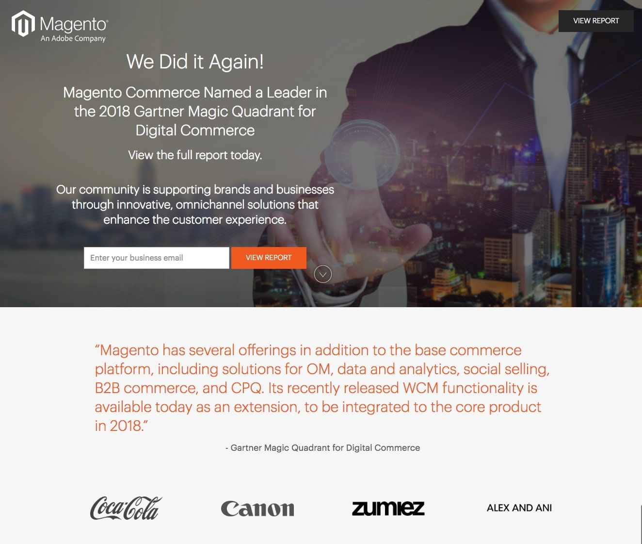 Great landing pages Magento
