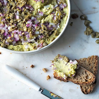 Split Pea Hummus with Capers & Red Onion