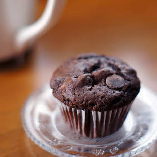 Double-Chocolate Muffins.