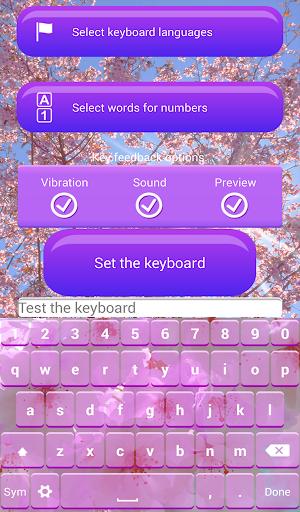 櫻花盛開 鍵盤 主題|玩通訊App免費|玩APPs