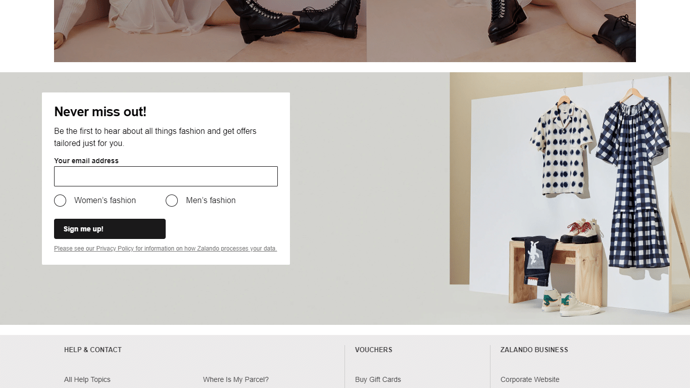 Zalando regional customer personalization