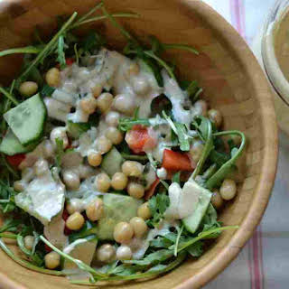 Tahini Cilantro Salad Dressing.