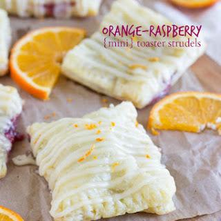 Mini Raspberry Orange Cream Cheese Toaster Strudels