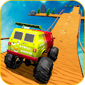 Uphill Monster Truck Mountain Climb: Stunt icon