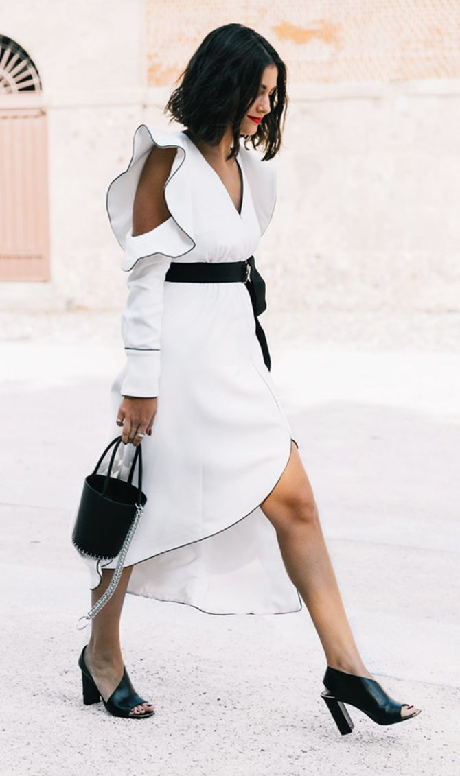 trendy looks, black and white combinations 1