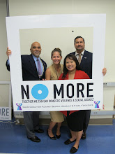Photo: Attorney General Leonardo Rapadas and Chief Deputy Attorney General Philip Tydingco and their staff proudly support the NO MORE campaign.