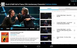 Screenshot of Qello Concerts