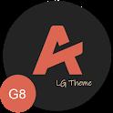 [UX8] Andromeda Dark LG V50 G8 V40 V30 Pie icon