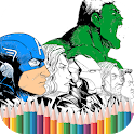 Superhero Coloring Pages & Printable icon