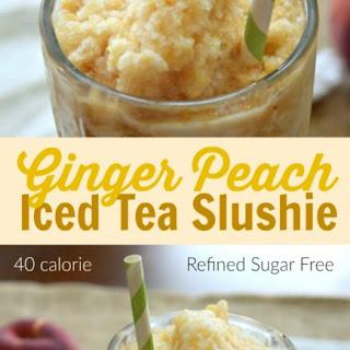 Peach Ginger Tea Slushie – Refined Sugar Free Recipe