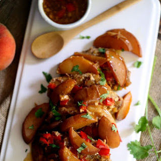 Slow Cooker Peach and Pepper Pork Chops.