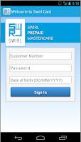 Screenshot of Swirl Card