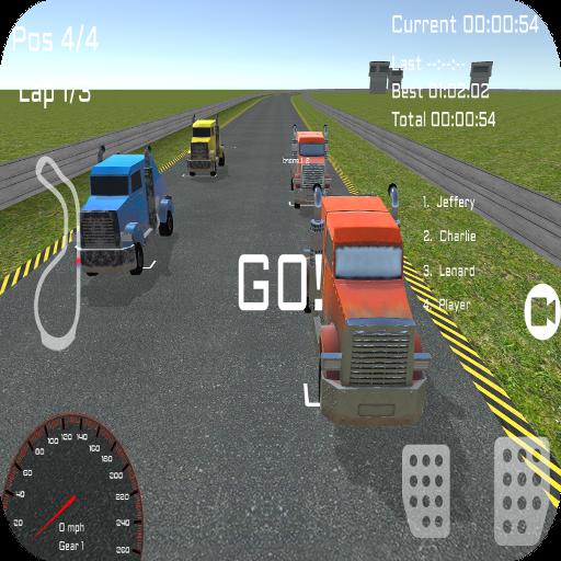 3Dトラック運転手のレース