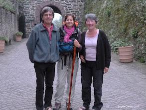 Photo: Michel,Sabine et Monique....Sabine continue pour l'Espagne