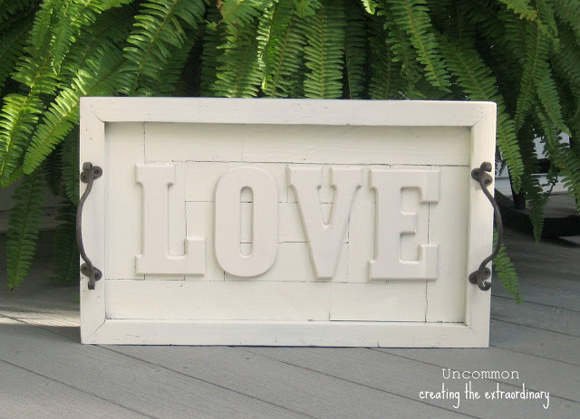 Photo: Love sign from made from a serving tray.
