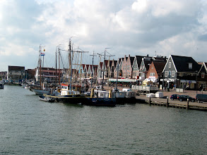 Photo: Volendam, which is a fairly traditional fishing village. From the IJsselmeer the fishermen catch eels, which are eaten smoked. Since the Dutch aren't big fans of freshwater fish, the fishermen do their major fishing for cod and such in the North Sea.