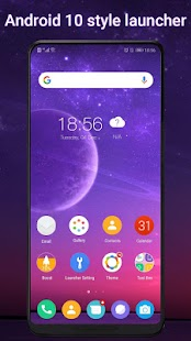 Cool Q Launcher for Android™ 10 launcher UI, theme Screenshot