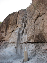 Photo: Indians carved these steps in the stone, but they are now off limits.