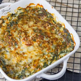 Cheesy Creamed Spinach Gratin Casserole Recipe