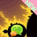GO SMS Theme Fractal Yellow icon