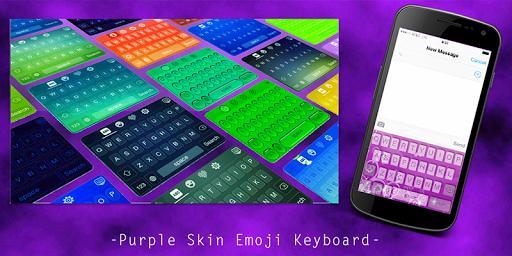 Purple Skin Emoji Keyboard