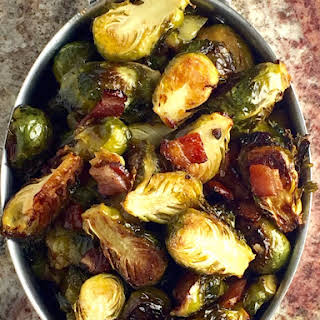 Maple Bacon Brussels Sprouts.