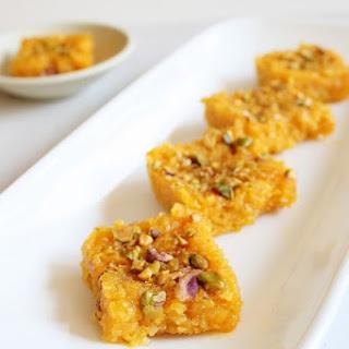 Mango Coconut Burfi Recipe | Mango dessert recipes | Mango Burfi.