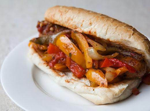Sausage, Pepper, Onion & Tomato Subs Recipe